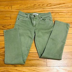 Ann Taylor Loft Skinny Crop Jeans in Green, 00